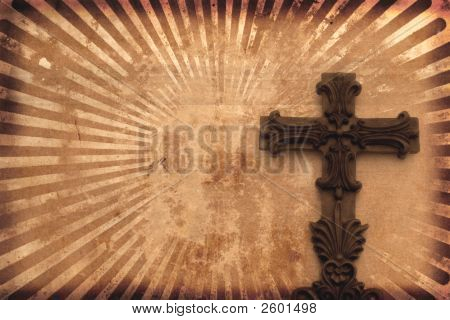 Grunge Background With Cross