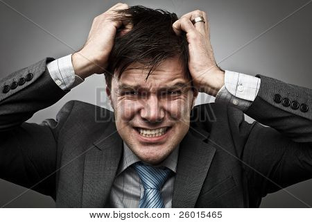 Businessman Pulling His Hair
