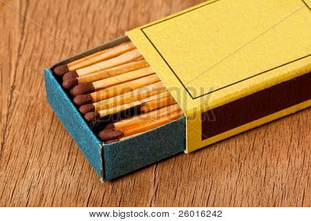 One Burned Match In Matchbox