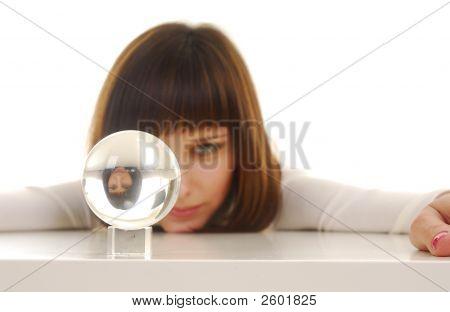 Woman And Magic Ball