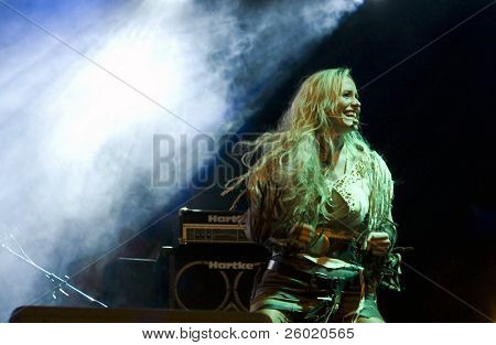 TURDA, ROMANIA - AUGUST 31: Rednex performs onstage at Turda August 31, 2008 in Turda, Romania