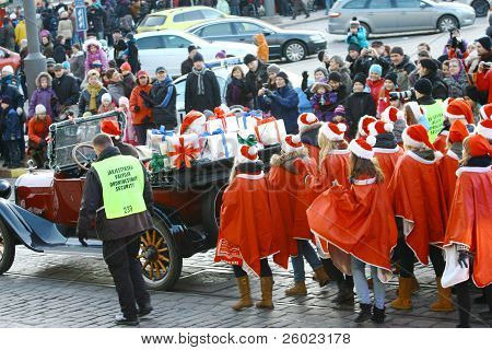 Helsinki, Finland - November 20: Traditional Christmas Street Opening In Helsinki On November 20, 20
