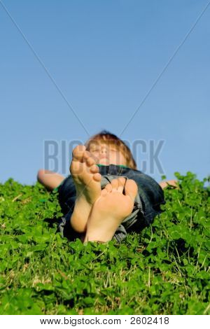 Feet, Child Relaxing