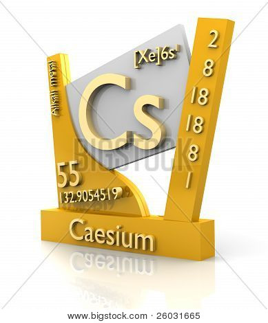 Caesium Form Periodic Table Of Elements - V2