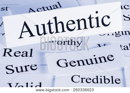 poster of Authentic Concept - A Conceptual Look At Authenticity, Authentic, Genuine, Credible, Actual, Real Su