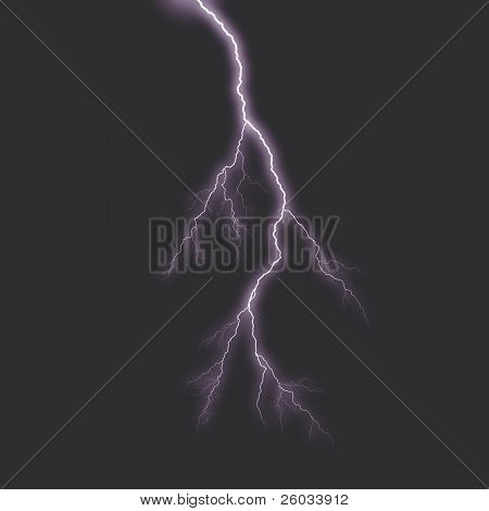 Lightning. Illustration generated on computer