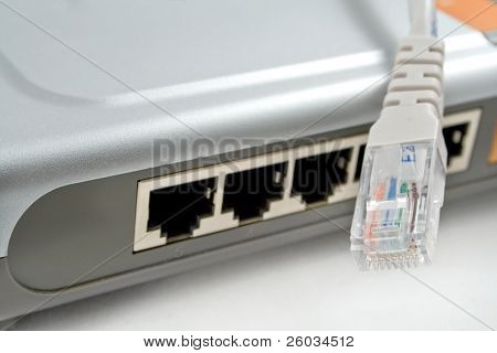 Network (lan) router with cable