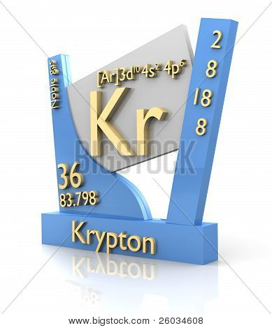Krypton Form Periodic Table Of Elements - V2