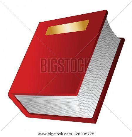 The red book. Vector illustration