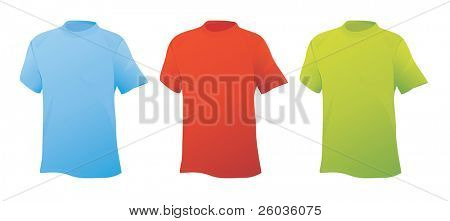 Three sports shirts. Vector illustration