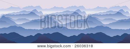 Montañas. Ilustración de vector inconsútil