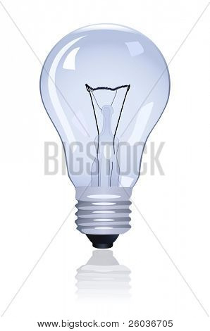 Electric lamp on white background. Vector illustration