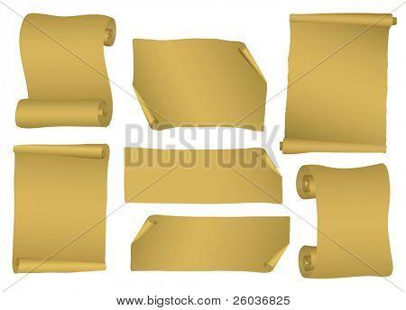 Coleção de rolagem de vetor. Ilustração vetorial