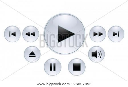 Panel for media player. Vector illustration