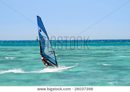 Windsurfer on the Red sea