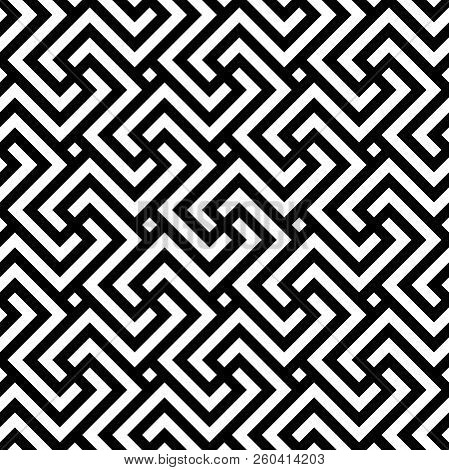 Vector Geometric Pattern Seamless Monochrome
