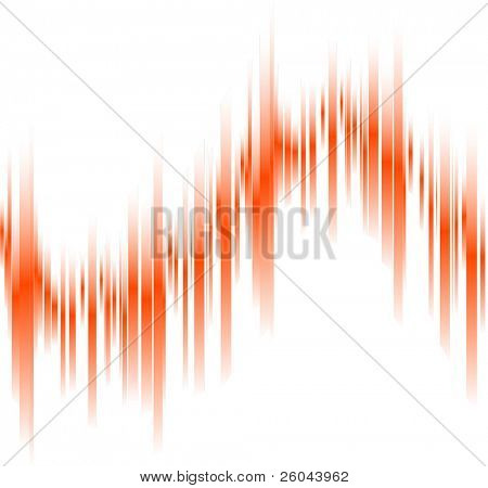 Abstract orange lines in perspective with space for text. Vector illustration