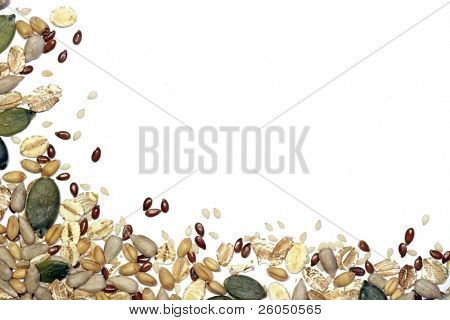 Samen und Getreide Hintergrund vignette