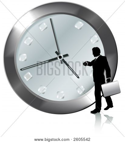 Appointment On Time Business Person Watches Watch