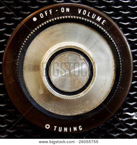 old radio knob