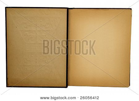 interior del viejo scrapbook