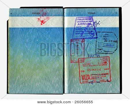 hi res scan of an old british passport