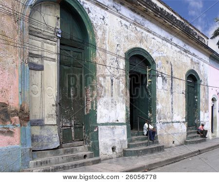 old doors on a street in nicaragua