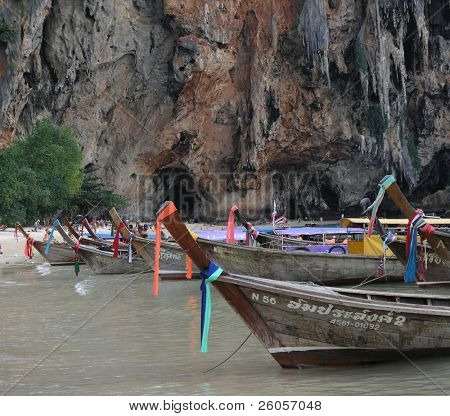 long tail boats thailand