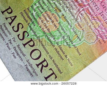 passport close up
