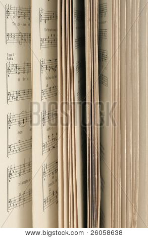 side of music book