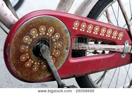 old bike detail
