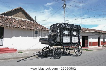 old black hearse
