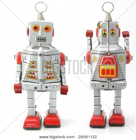 two retro robots