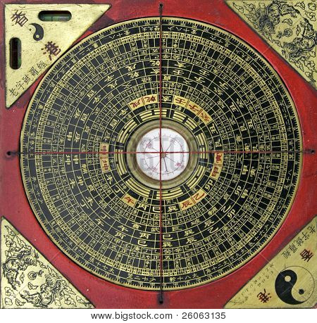 antique chinese compass for  feng shui