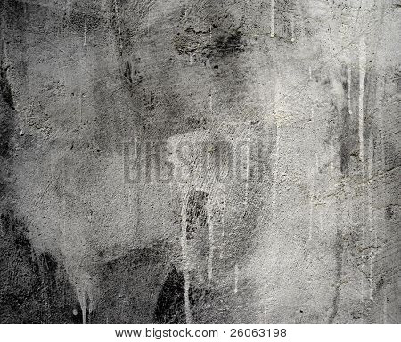old gray white wall  and paint drips