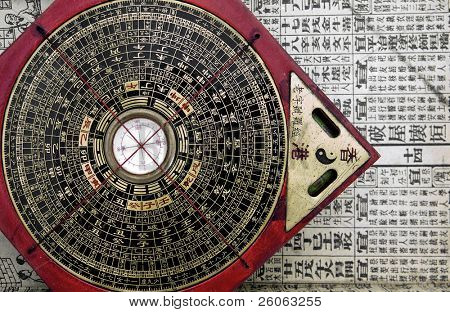 old chinese feng shui compass