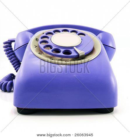 retro  purple  phone