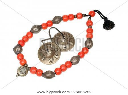 Antique Tibetan necklace and Buddhist bells