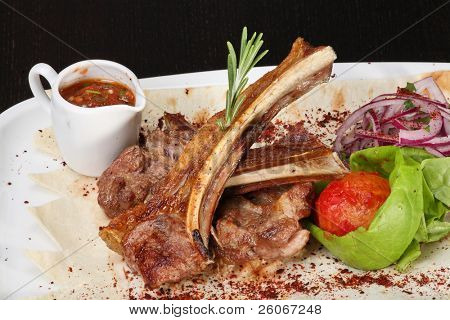 Roasted lamb ribs