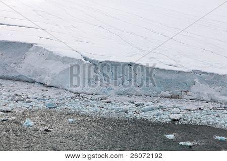 Glaciers (flowing into Arctic Ocean)