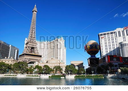 LAS VEGAS - MAR 4: Paris Las Vegas hotel and Casino featured with the theme of Paris in France on March 4, 2010 in Las Vegas, Nevada.