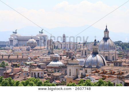 Rome Rooftops, Victor Emmmanuel Monument & Campidoglio