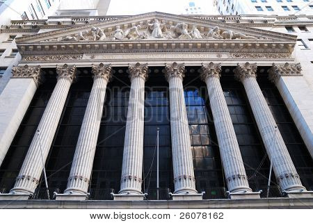 Nova Iorque - 8 de agosto: Wall Street New York Stock Exchange, maior bolsa do mundo por ma