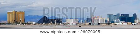 LAS VEGAS, NV - MAR 4: Vegas Strip is 3.8 mile stretch featured with world class hotels and casino. March 4, 2010 in Las Vegas, Nevada.