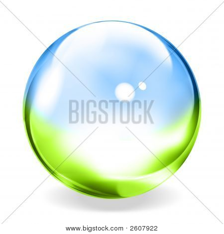 Blue Green Transparent Sphere