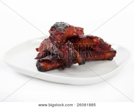Chinese Spare Ribs On A Plate