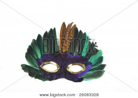 Carnival mask, on white background