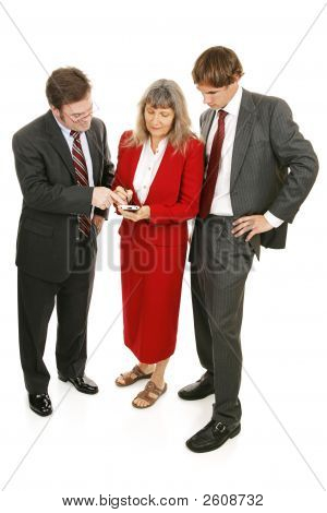 Business Team Checks Market