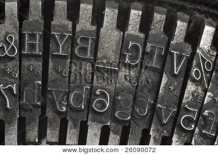 Old typewriter type