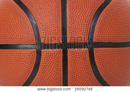 Detail of basket ball texture close-up.